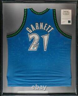 Kevin Garnett Signé Authentique Minnesota Timberwolves Jersey Deck Supérieur Uda Coa