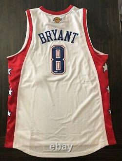 Kobe Bryant 2004 Los Angeles Lakers All Star Signé Jersey Authentic 50/50 Uda