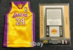 Kobe Bryant 2007-2008 Upper Deck Mini Jersey Uda Lakers Autographe Auto