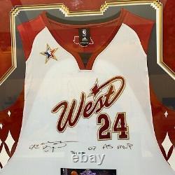 Kobe Bryant 2007 A. S. Mvp Signé 2007 All Star Game Jersey Uda Upper Deck Coa