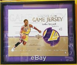 Kobe Bryant 2009-10 Auto Portés Utilisé Jumbo Chandail Autographié Patch Uda 11/16 #d