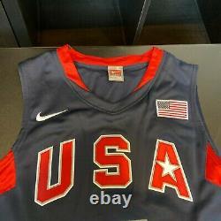 Kobe Bryant A Signé 2008 Pro Cut Team USA Olympics Jersey Avec Uda Upper Deck Coa