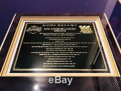 Kobe Bryant Authentique Signé Jersey # 8 Encadré Uda