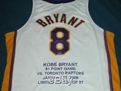 Kobe Bryant Autographed Jersey Limitée À 81 La Lakers Upper Deck Uda 1/81