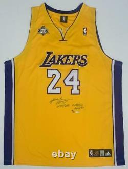 Kobe Bryant Autographié 07-08 Nba Mvp Authentic Lakers Jersey Uda Le 124