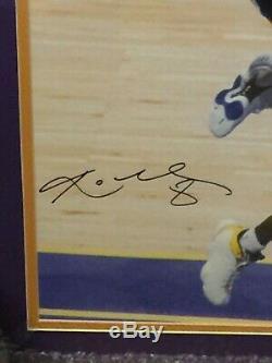 Kobe Bryant Autographié 16 X 20 Encadré Photo Dédicacée Uda Upper Deck Avec Holo Coa
