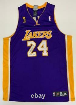Kobe Bryant Autographié 2009 Nba Finals Patch Authentic Jersey Uda Le 9/124