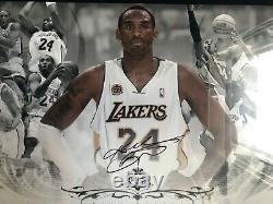 Kobe Bryant Lakers Uda Autographe Photo / Lithographie Mvp Collage 2007-2008