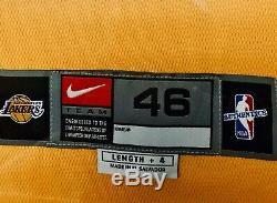 Kobe Bryant Rare Uda Signé Encadrée 2001 Finales (9/11 Ed.) Lakers Jersey Le / 208