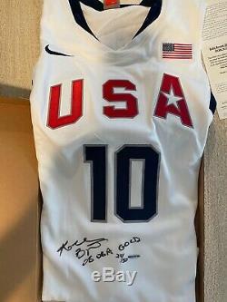 Kobe Bryant Signé 08 Olympic USA Jersey Uda Limitée # 24/50