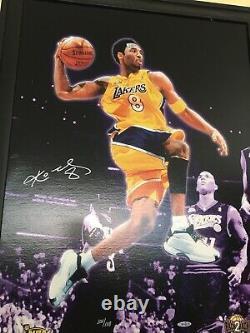 Kobe Bryant Signé 20x28 Canvas Upper Deck Uda Authentifié Limited 100/108