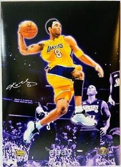 Kobe Bryant Signé 20x28 Canvas Upper Deck Uda Authentifié Limited 2/108