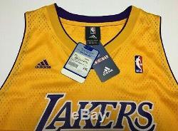 Kobe Bryant Signé Adidas Basketball Authentique Jersey Black Mamba Uda