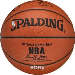 Kobe Bryant Signé Officiellement Spalding Nba Jeu Basketball Upper Deck Uda & Psa