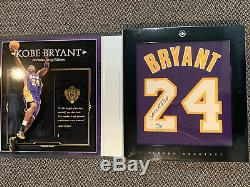Kobe Bryant Uda Upper Deck Auto Box Violet Jersey Signé Archive # 'ed 46/124 Coa