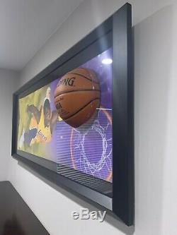Kobe Bryant Uda Upper Deck Autographié Lakers Breaking Through En Verre Avec Coa