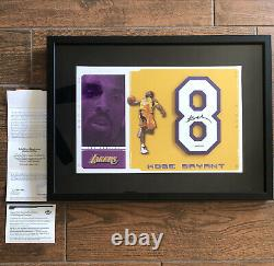 Lakers Kobe Bryant Signé Jersey Numéro 8 Pièce Autograph Uda Upper Deck Coa