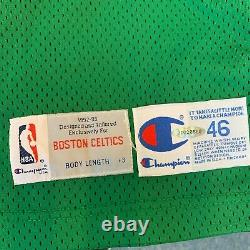 Larry Bird Signé 1992-93 Boston Celtics Pro Cut Jeu Modèle Jersey Avec Uda Coa