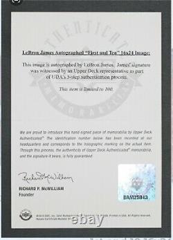 Lebron James A Signé Autographié 16x24 Rookie Photo First Et 10 Auto /100 Uda Sp