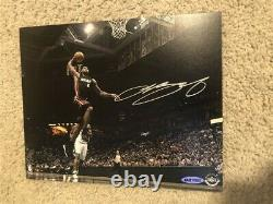 Lebron James A Signé Dédicacé Uda Upper Deck 8x10 Miami Heat Lakers Cavaliers