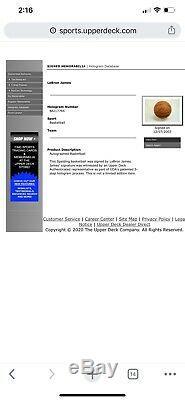 Lebron James Autographed Basketball Uda Rookie Année Signé 07/12/03 Coa
