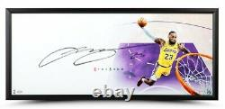 Lebron James Autographied Lakers The Show Framed 46 X 20 Affichage Uda