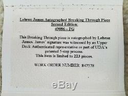 Lebron James Autosigné Nba Cavs Briser Break Through Verre Lbj Uda 108/223