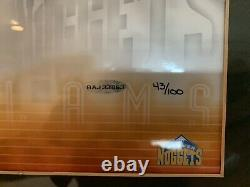 Lebron James Carmelo Anthony Dual Signé Uda Upper Deck 16x20 Coa Auto # 43/100