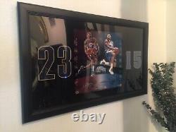 Lebron James & Carmelo Anthony Hand Signé Encadré Photo Composite Upper Deck Uda
