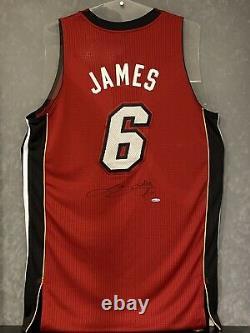 Lebron James Miami Chaleur Signée Autographied Jersey Uda Upper Deck Authentic
