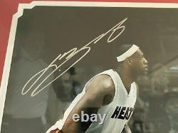 Lebron James Professional Framed Uda Signé 16 X 20 Auto Photo Autograph 42/106
