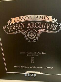 Lebron James Signé Home Cavaliers Jersey Archives 7/123 Auto Uda Upper Deck