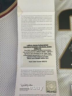 Lebron James Signé Rookie Jersey Super Deck Authenticated Autograph Uda