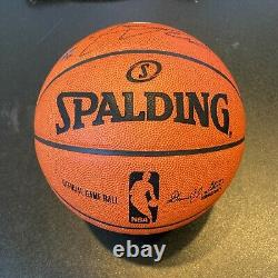 Lebron James Témoin Miami Chalk Toss Signé Basketball Uda Deck Supérieur 6/6