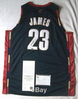 Lebron James Upper Deck Uda Autographié Autre Jersey Mint Condition + Box