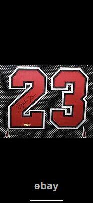Mancave Dream Michael Jordan M&n Autographié Jersey Uda Cadre Professionnel