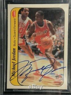 Michael Jordan 1986 Fleer Autocollant Signé Upper Deck Uda Rookie Autograph Beckett