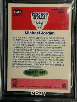 Michael Jordan 1986 Fleer Signé Upper Deck Uda Rookie Sticker Autograph Beckett