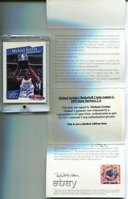 Michael Jordan 1991-92 Nba Hoops All-star Mvps #ix Auto Uda Signed On Card Rare
