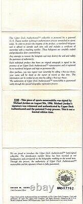 Michael Jordan 1992 Upper Deck #23 Signé Autograph Auto Psa/dna Uda Upper Deck