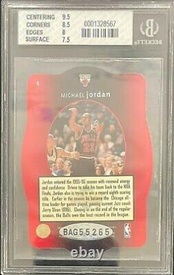 Michael Jordan 1996-97 Spx #nno Auto Bgs 8 Nm-mt Uda Certifié Dernière Danse 4775