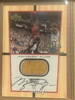 Michael Jordan 2000 Upper Deck Final Floor On Card Auto Chicago Bulls Ssp Uda
