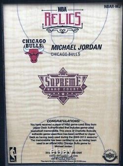 Michael Jordan, 2017-18 Uda Supreme Hard Court Relics Quad Jersey Patch Non Auto