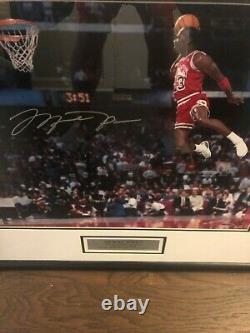 Michael Jordan A Signé 1988 Slam Dunk Concours Uda Authentification16x20 Lancer Franc