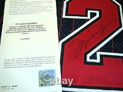 Michael Jordan A Signé 96-97 Chicago Bulls Authentic Pro Cut Pinstripe Jersey Uda
