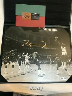 Michael Jordan A Signé Photo Uda Rare 17 Secondes, Le Coup