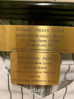 Michael Jordan A Signé White Sox #45 Jersey Uda Esp01384