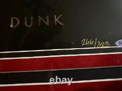Michael Jordan Art Or Autographié De La Photographie Encadrée Dunk Uda Le 323