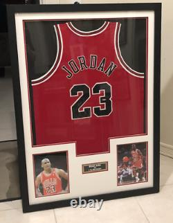 Michael Jordan Authentic Signed Jersey Uda Red Chicago Bulls Encadré Hof