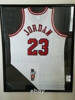 Michael Jordan Auto 1997 Chicago Bulls Nike Pro Cut Maillot Encadré Uda Last Dance
